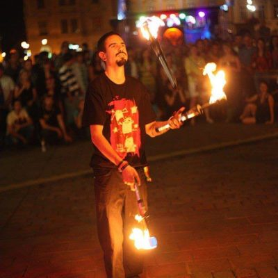Busking with fire